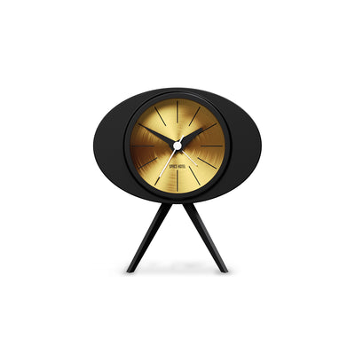 Black Gold Alarm Clock - Modern Podium - Space Hotel Landing Craft SH-LAND-G1-SK