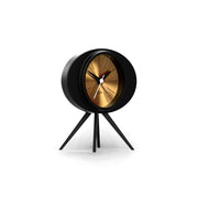 Black Gold Alarm Clock - Modern Podium - Space Hotel Landing Craft SH-LAND-G1-SK skew