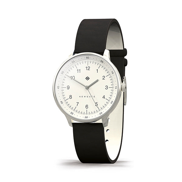 Black Leather Watch - Everyday Casual - Men's Women's - British Design - Newgate Blip WWMBLPVS056NK (skew)
