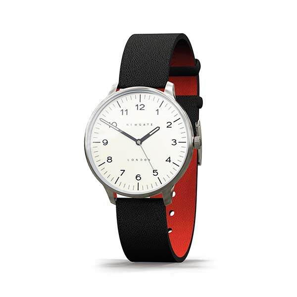 Black Leather Watch - Men's Women's - Everyday Casual - British Design - Newgate Blip WWMBLPVS026LK (skew)