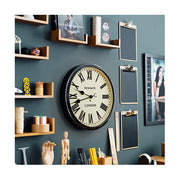 Black Station Wall Clock - Roman Numeral - Classic Large - Newgate Battersby CLJ71K (homeware) 1 copy