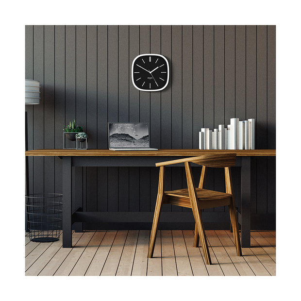 Black White Wall Clock Modern Minimal - Space Hotel Moontick SH-MOON-K1-W lifestyle