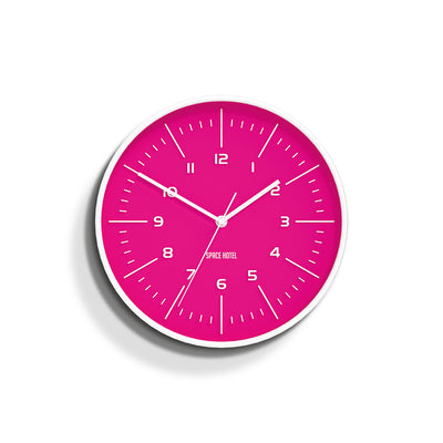 Bright Pink Wall Clock - Modern Colourful - Space Hotel Galaxy X SH-GALA-P1-W