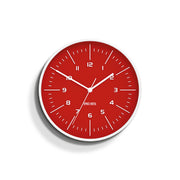 Bright Red Wall Clock - Modern Colourful - Space Hotel Galaxy X SH-GALA-FER1-W