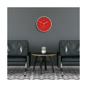 Bright Red Wall Clock - Modern Colourful - Space Hotel Galaxy X SH-GALA-FER1-W - lifestyle