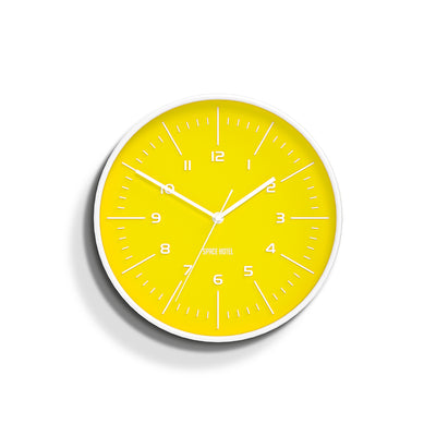 Bright Yellow Wall Clock - Modern Colourful - Space Hotel Galaxy X SH-GALA-Y1-W