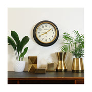 Classic Kitchen Clock – Black & Gold Brass – Newgate Cookhouse COOK397K (home accessories) 1 copy
