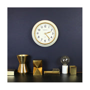 Classic Kitchen Clock – White & Gold Brass – Newgate Cookhouse COOK397LW (home accessories) 1 copy