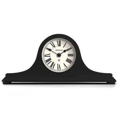 Newgate Clocks Time Machine mantel clock in dark Grey with classic style case and traditional Roman Numeral dial