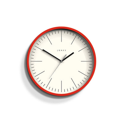 Colourful Red Wall Clock - Jones Clocks Spartacus JSPAR102ER