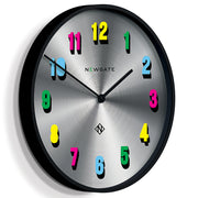 Modern Colourful Numeral Wall Clock - Limited Edition - Newgate Eye Candy NUMXEYE (skew)