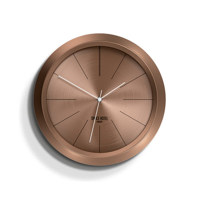 Copper Wall Clock - Modern Minimal Futuristic - Space Hotel - Ace Astroid SH-ACEA-DC1-DC