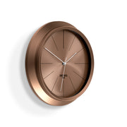 Copper Wall Clock - Modern Minimal Futuristic - Space Hotel - Ace Astroid SH-ACEA-DC1-DC - skew
