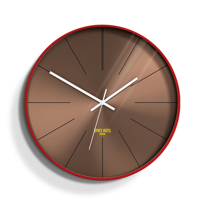 Copper Wall Clock Red Modern - Space Hotel District 12 SH-DIST-DC1-FER