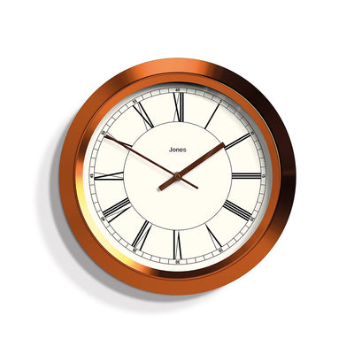 Copper Wall Clock Roman Numeral Dial - Jones Clocks Starlight JSTAR707BRC