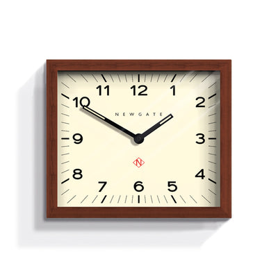 Dark wood rectangular Mr Davies wall clock by Newgate World - MRDAV162DO35