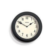 Dark Grey Wall Clock Decorative - Jones Clocks Venetian JVEN120BGY - front