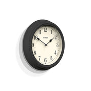 Dark Grey Wall Clock Decorative - Jones Clocks Venetian JVEN120BGY - skew