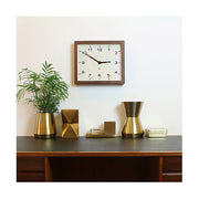 Dark Wood Wall Clock - Mid-Century Rectangular - Newgate Mr Davies MRDAV162DO35 (home accessories) 1 copy