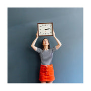 Dark Wood Wall Clock - Mid-Century Rectangular - Newgate Mr Davies MRDAV162DO35 (lifestyle) 1 copy