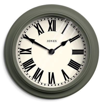 Jones clocks Opera House large, decorative wall clock in Asparagus Green - JOPER1ASG
