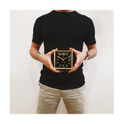Decorative Alarm Clock - Silent 'No Tick' - Black & Gold Art Deco - Skyscraper SKY661CK (decor)