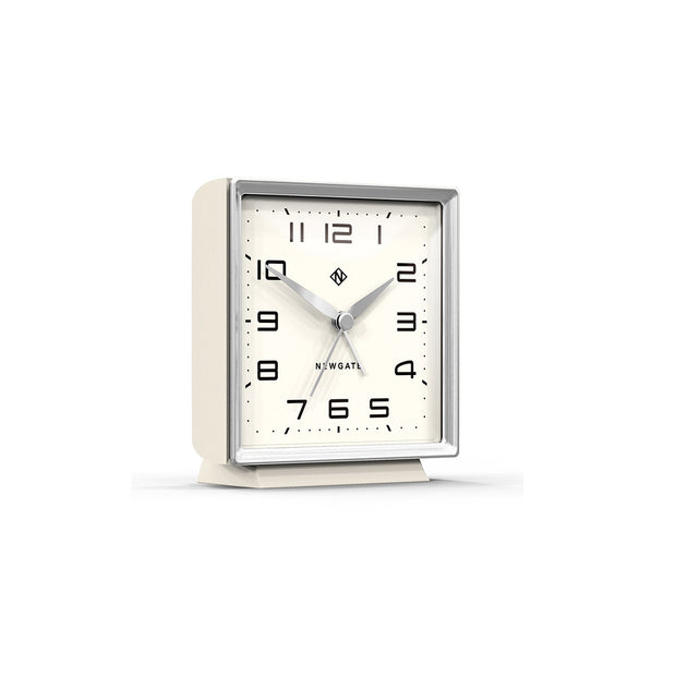 Decorative Alarm Clock - Silent 'No Tick' - Light Grey - Skyscraper SKY531LGY (skew)