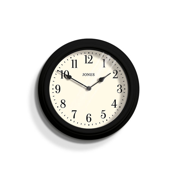 Decorative Black Wall Clock - Jones Clocks Venetian JVEN120K