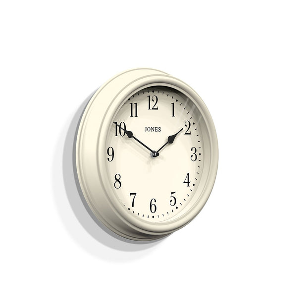 Decorative Cream White Wall Clock - Jones Clocks Venetian JVEN120LW (skew)