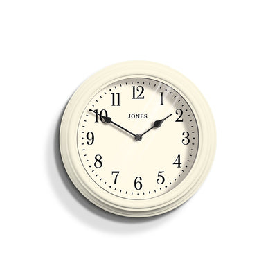Decorative Cream White Wall Clock - Jones Clocks Venetian JVEN120LW
