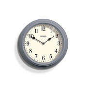 Decorative Grey-Blue Wall Clock Analogue - Jones Clocks Venetian JVEN120FN