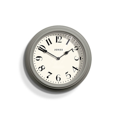 Decorative Grey Wall Clock Analogue - Jones Clocks Venetian JVEN111CGY