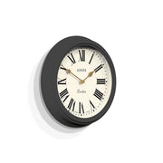 Decorative Wall Clock Roman Numeral Grey - Jones Clocks Venetian JVEN319BGY - skew