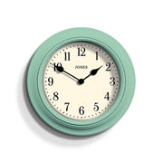 Duck-Egg Blue Wall Clock - Jones Clocks Supper Club JSUP144DE - front