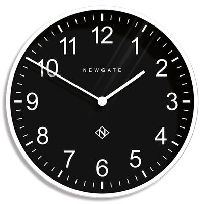 Extra Large Professor wall clock by Newgate World in Pebble White with a black Arabic dial and straight metal hands - NUMXPROF436PW