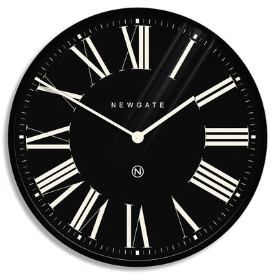 Extra Large Number X Music Hall wall clock in Black with Roman numerals by Newgate World - NUMXMHALL84CK