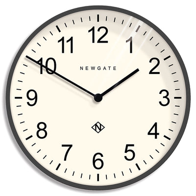 Large Professor Blizzard Grey Arabic wall clock by Newgate World with straight metal hands and modern case - NUMXPROF309BGY