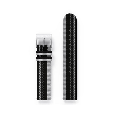 G6 Binding canvas watch strap in black and grey by Newgate World