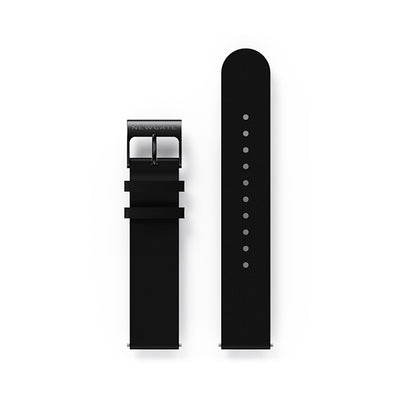 G6S Black Leather Watch Strap - Black Clasp