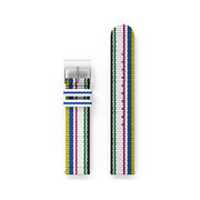 G6 Multicolour Striped Canvas Watch Strap - Deckchair