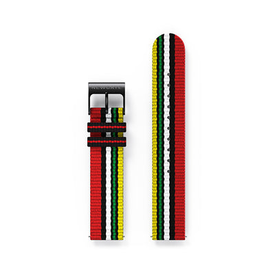 G6 Multicolour Striped Canvas Watch Strap - Socks
