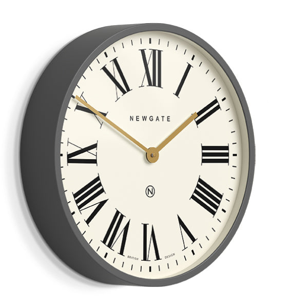 Grey Roman Numeral Wall Clock - Mr Butler - PUT538BGY