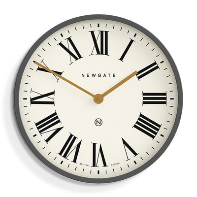 Blizzard Grey large Mr Butler Wall clock by Newgate World - PUT538BGY