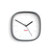 Grey Square Wall Clock Modern Minimal - Space Hotel Moontick SH-MOON-W1-OGY