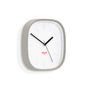 Grey Square Wall Clock Modern Minimal - Space Hotel Moontick SH-MOON-W1-OGY skew