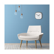 Grey Square Wall Clock Modern Minimal - Space Hotel Moontick SH-MOON-W1-OGY lifestyle