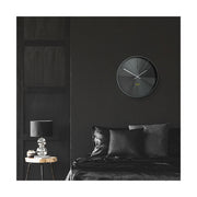 Gunmetal Grey Wall Clock - Modern Minimal Futuristic - Space Hotel District 12 SH-DIST-GU1-GU lifestyle