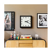 Industrial Metal Wall Clock - Square Black - Newgate Quad QUAD42K (home accessories) 1 copy