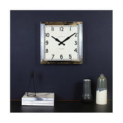 Industrial Metal Wall Clock - Square Chrome Silver - Newgate Quad QUAD42CH (home accessories) 1 copy