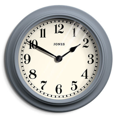 Large Decorative Wall Clock Pale Blue - Jones Clocks Opera House
